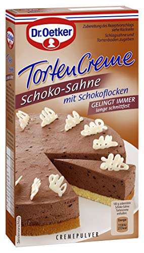 Dr. Oetker Tortencreme Schoko Sahne, 11er Pack (11 x 170 g)