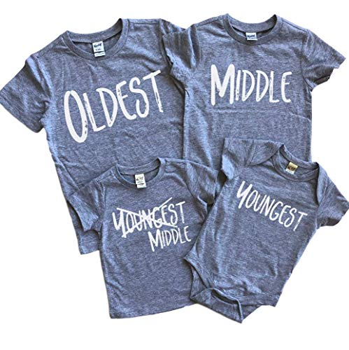 Sibling shirts set of 4 4th pregnancy announcement matching shirts for kids