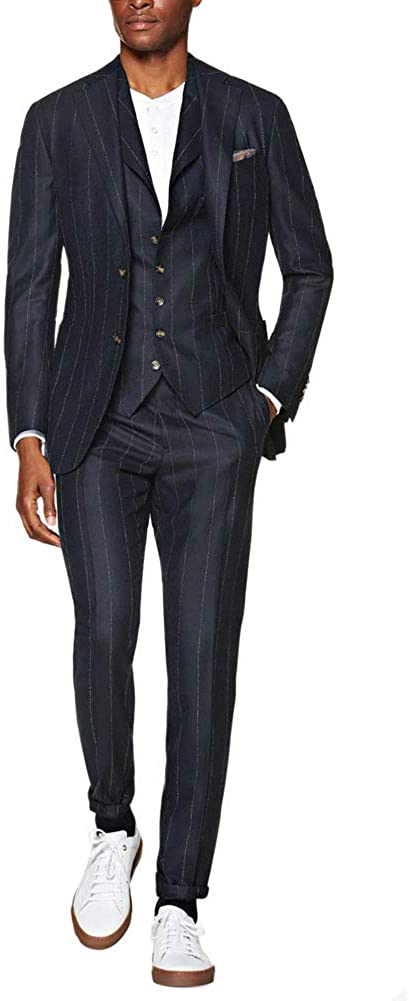 Michealboy Men's Special price Suit 3-Piece Two Buttons Single Tuxedo Breasted Dedication