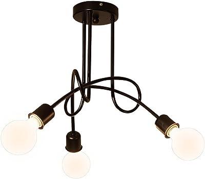 Lamparas de Techo Vintage, DIY de 5 Lámparas del Hierro del ...
