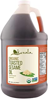 Kevala Organic Toasted Sesame Oil, 128 Fluid Ounce