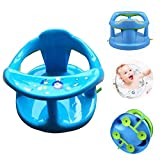 Borge Baby Bath Chairs Bath Seat Baby Bath Tub with Soft Support Infant Bathtub Seat for Sit-Up Girls Shower Gifts, Blue