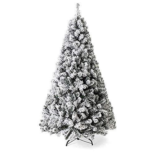 Alberi di Natale Alberi di natale artificiali 4ft / 5ft / 6ft / 7ft Artificiale Natale Albero di natale Innevato Pino Decorazioni domestiche tradizionali eleganti con base in metallo Artificiali Alber