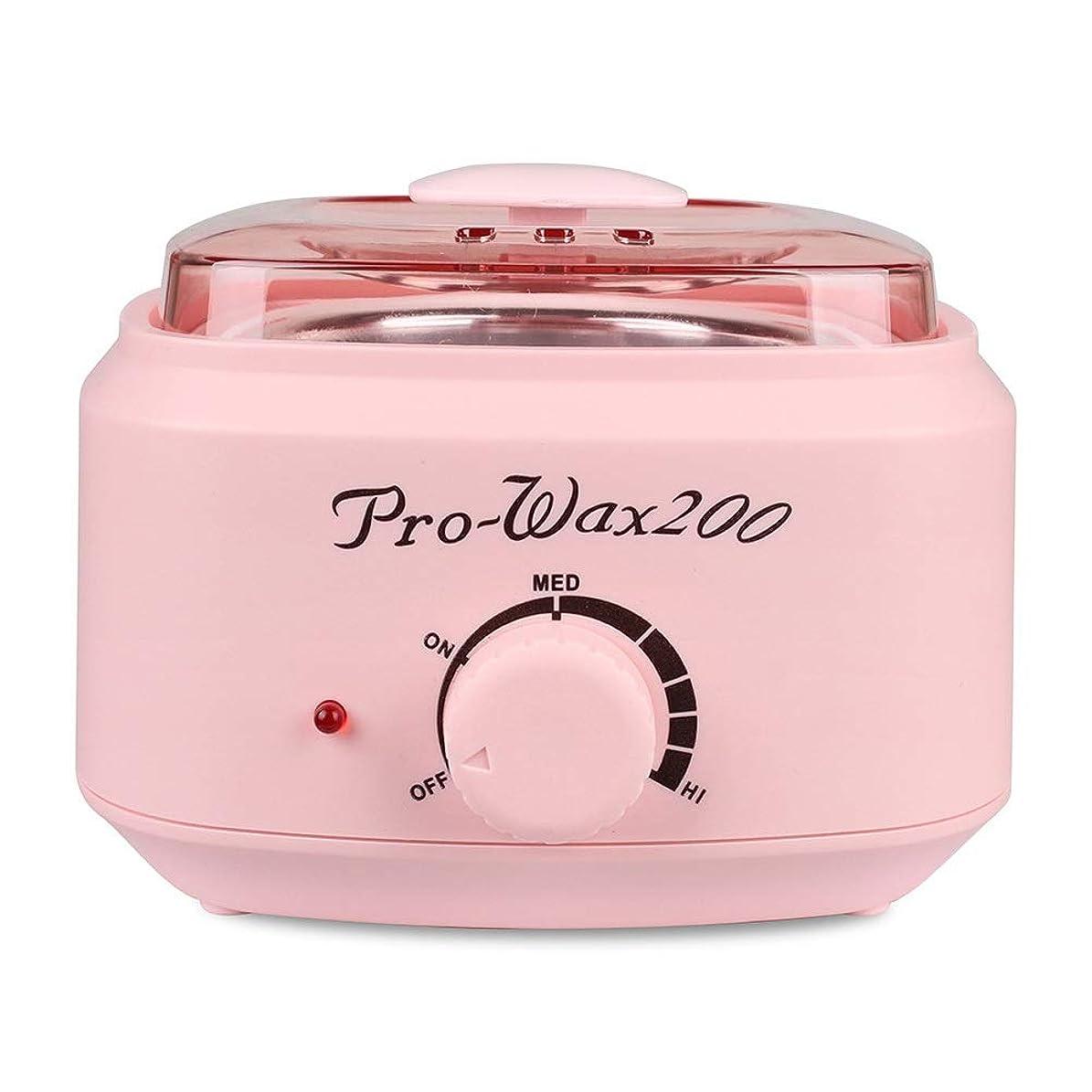 左競争検索プロの電気ワックスウォーマーとヒーター、速くて痛みのない脱毛、楽器多機能溶融ワックスマシンホームワックス女性/男性用500CC (Color : Pink)