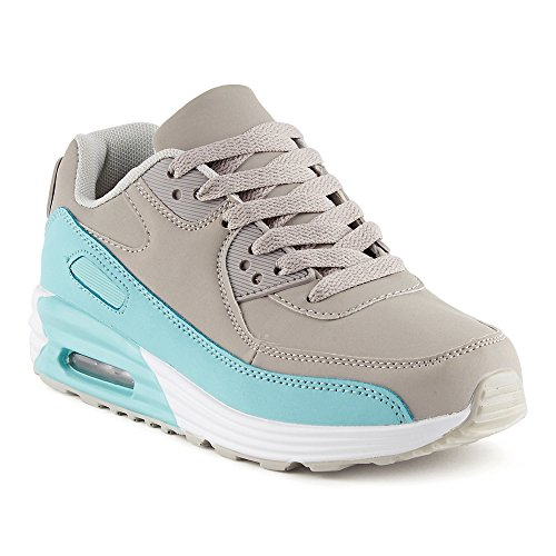 FiveSix Herren Damen Sportschuhe Dämpfung Sneaker Laufschuhe Hellblau Grau EU 38