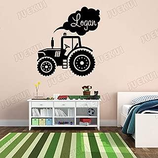 57X63 cm maquinaria agrícola ahumada nombre personalizado pegatinas de pared para niños habitación decoración del arte del hogar vinilo tatuajes de pared dormitorio de los niños