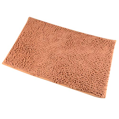 Balacoo Hunde-Fußmatte, saugfähig, Mikrofaser, rutschfest, Größe S, Braun