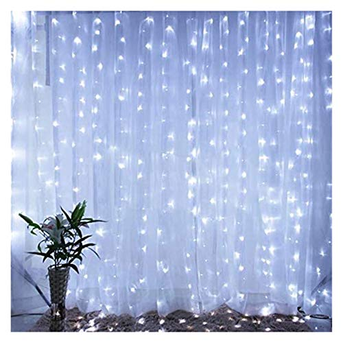 TTW 3x3m RGB LED Cortina de Navidad String Lights 8 Modos 300 Leds IP44 Boda Año Nuevo Garland Dormitorio Dormitorio Decoración de Fiesta (Color : 3)