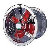 Ventilador eléctrico Cilindro Extractor Industrial/Taller de Metal Extractor de fábrica/Ventilador de Humos de Cocina/Extractor de Gran Volumen de Aire (Color: 10 Pulgadas)