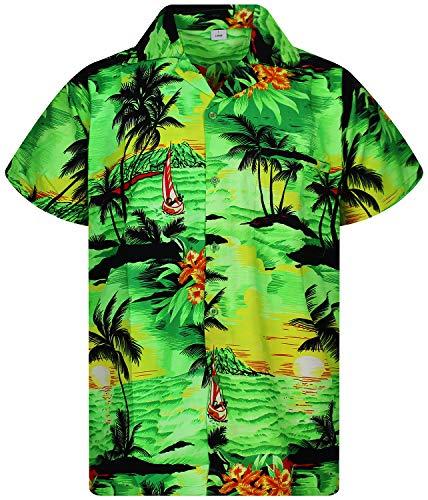 V.H.O. Funky Camisa Hawaiana, Surf, Green, M