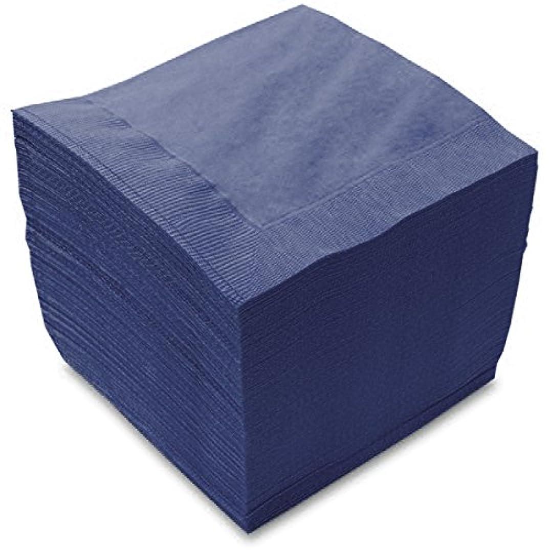 血統思慮のない差別カラー4折2プライペーパーナプキン「フレンチブルー」(3000枚)