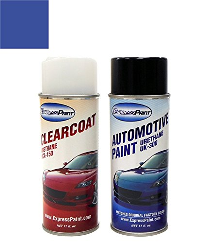 ColorRite Aerosol Automotive Touch-up Paint for Volkswagen Beetle - Techno Blue Pearl Clearcoat LW5Y/K9 - Color+Clearcoat Package