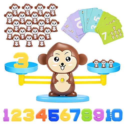 ATOPDREAM Toys for 3 4 5 6 7 8 Year Old Girls Boys, Monkey Balance Math Game Boys Girls Toys Age 3-8 Educational Toys for 3-8 Year Olds Easter Gifts for 3-8 Year Old Girls Boys Stem Toys