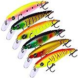 6 señuelos de pesca 10,5 cm/13 g lápiz señuelo de pesca lento hundimiento duro cebo lápiz popper realista Bass Fishing señuelo para agua salada y agua dulce