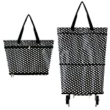 Zerich Collapsible Trolley Bags Folding Shopping Bag with Wheels Foldable Shopping Cart Reusable Shopping Bags...