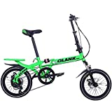 RTRD Bicicleta Plegable Deportiva, Velocidad Variable Doble Disco Freno suspensión Completa Antideslizante, Estudiantes Adultos niños conducción portátil