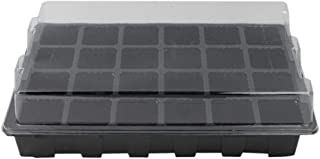 24-Cell Seed Tray Kit Seedling Starter Trays Germination Trays Plant Nursery Pot Seed Starter Set with Lid and Base for Seed Germination