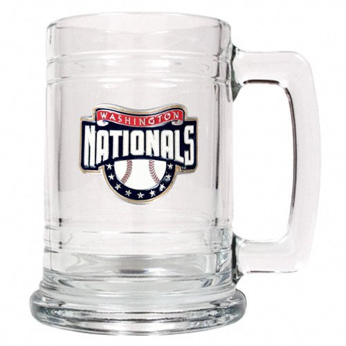 Washington Nationals MLB 2pc Rocks Glass Set - Primary Logo