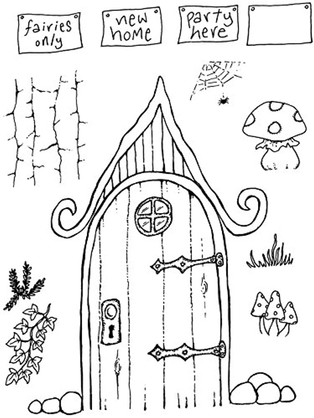 Sweet Dixie Curly Fairy Door Clear Stamp by Sweet Dixie