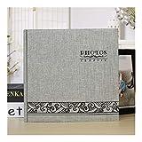 Mantiene 200 Fotos Slip 6 Pulgadas Memo Album de Fotos de la Memoria portátil Insertar Imagen almum for los niños Amantes de la Familia (Color : Grey)