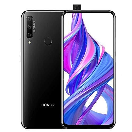 HONOR 9X Smartphone 4GB RAM+128GB Speicher 6,59-Zoll-Vollbild und 16MP Pop-up-Selfiekamera mit 48-Megapixel-Rückfahrkamera 3D-Farbenspielglasgehäuse 4000mAh Akku und Zwei SIM Mobile Phone Schwarz