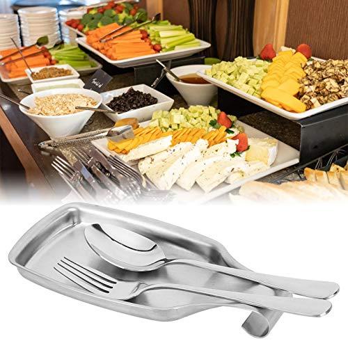 Soporte de cuchara duradero antioxidante, tapete de descanso de cuchara, para cocina casera