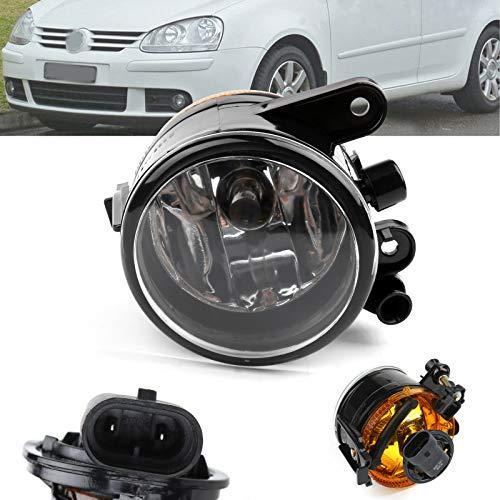 Artudatech luces antiniebla para auto, luz antiniebla delantera derecha, foco de luz antiniebla, luces antiniebla, lámpara de parachoques para V W Golf MK5 06-2009 US Versión 1K0941699C