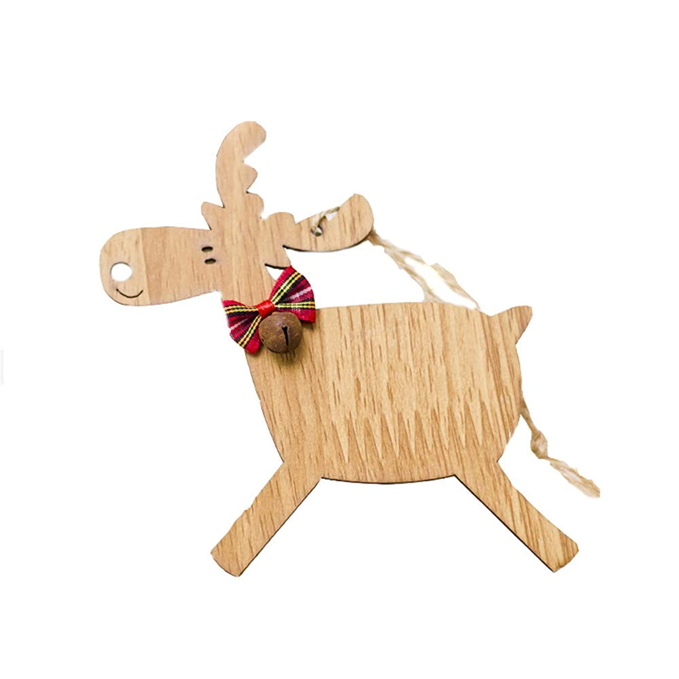 Iusun Christmas Tree Decorations Deer Wooden Hanging Xmas Tree Pendants DIY Ornament Wedding Party Holiday Decor
