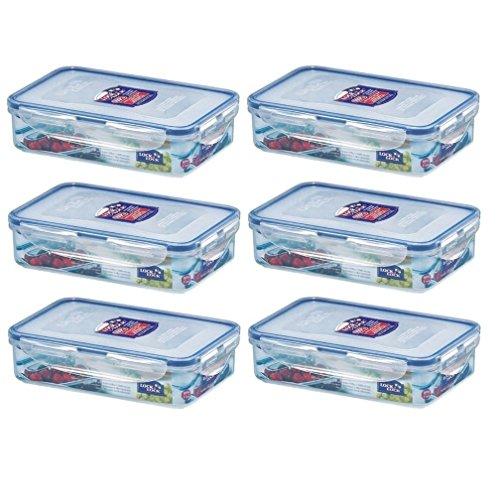 3 x lock /& lock rectangulaires en plastique Conteneur de stockage alimentaire 800ml hpl816