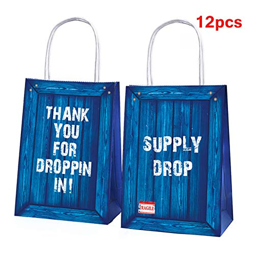 Game Party Favor Bags Gaming Party Supplies Gift Bags Kids Adults Treat Bag for Birthday Party -12 Pack