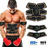 Electroestimulador Muscular Abdominales, Abdominales Cinturón, Estimulación USB Recargable ABS...
