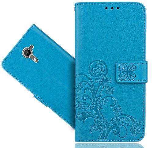 Wiko U Feel Prime Coque, FoneExpert® Fleur Etui Housse Coque en Cuir Portefeuille Wallet Case Cover Pour Wiko U Feel Prime