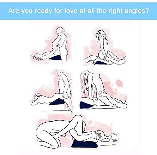 N / A Enge-Design Dreieck Aufblasbares Dreieck Luftkissen, Positionskissen-Kit (Klein-Blau) Silikon-Massage