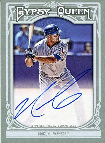 Nelson Cruz Autographed 2013 Topps Gypsy Queen Card - Baseball Slabbed Autographed Cards
