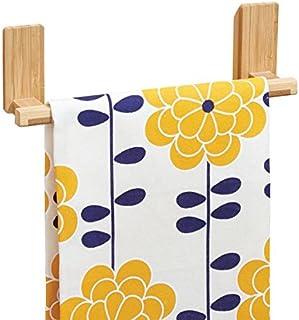 mDesign AFFIXX Toallero de bambú para colgar en pared, sin
