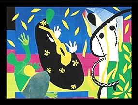 Buyartforless IF IF V 45273 28x20 2 Black Plexi Framed La Tristesse Du Roi 1952 (The Sorrows of The King) by Henri Matisse Art Print Poster, 28