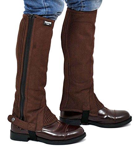 Riders Trend Half Mezza Unisex Adulto Amara Mezze Chaps con Fodera Thinsulate – Marrone Cioccolato, S = Polpaccio (12'-14') x 38,5 cm Uomo, S