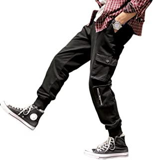 Mens Trousers Zipper Decoration Loose Anti-Ball Anti Fading Wear-Resistant