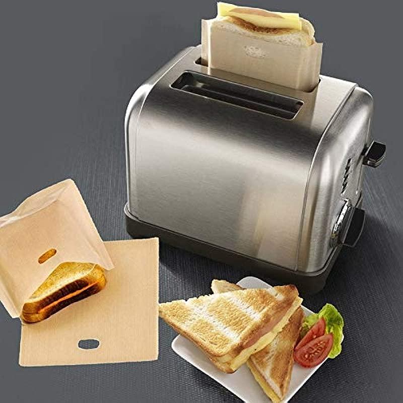 Purra145 Sandwich Toaster Bag 3 Pcs Set Non Stick Reusable Heat Resistant Toaster Bags Sandwich Fries Heating Bags Cooking Tools Gadget Kitchen Accessories