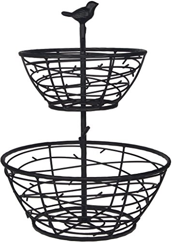 Home Essentials 12 inches x 12 inches x 16 inches Bird 2-Tier Basket Kitchenware