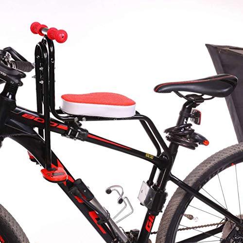 Kindersattel Fahrrad Vorne Stange Abnehmbarer Fahrrad-Vordersitz Kindersitz Pedal 60KG Abnehmbar Fahrradkindersitz Vorne Für MTB Rennrad,Orange
