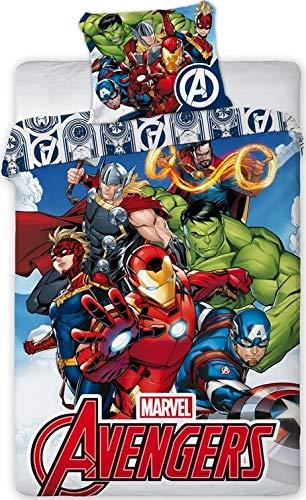 Juego de funda nórdica de Los Vengadores Marvel con diseño de Los Vengadores Marvel
