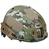 H World EU Airsoft Tactical Paintball Casco Protector con cojín Multicam