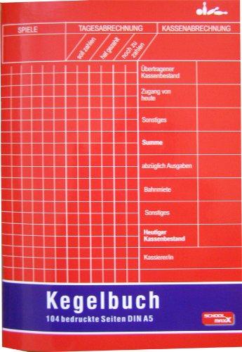 Kegelbuch DIN A5, 104 Seiten