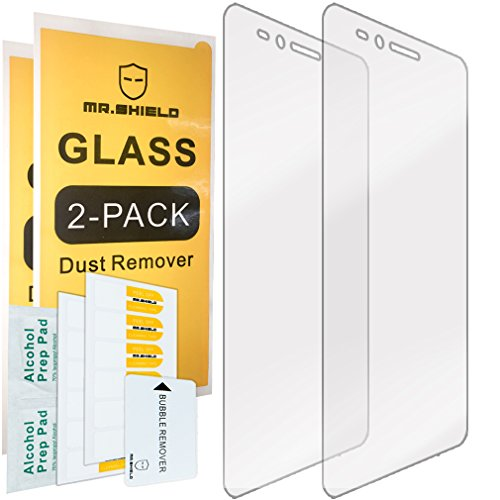 [2-Pack] Mr.Shield for Huawei Honor 5X [Tempered Glass] Screen Protector [0.3mm Ultra Thin 9H Hardness 2.5D Round Edge] with Lifetime Replacement