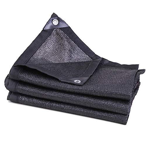 HMDECO Sunblock Schatten Tuch, schwarz Bulk UV-beständig Stoff Metall Tarp, for Gewächshäuser Pflanzendecke Carports Lawns Gärten Grillplätze (Size : 3 * 3m)