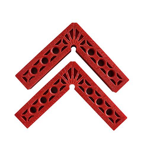 WAHSBAG Carpintero cuadrado, 90 grados de posicionamiento cuadrados, abrazadera de ángulo recto con abrazaderas, aleación de aluminio tipo L abrazadera de esquina carpintería carpintería