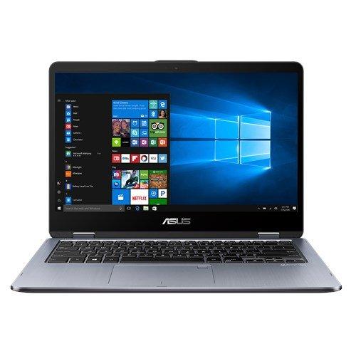 ASUS VivoBook Flip TP410UA-EC287T 2.4GHz i3-7100U 14' 1920 x 1080Pixel Touch screen, Grigio Ibrido [importato da Spagna]