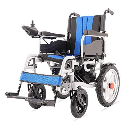 Y-L elektrische rolstoel voor senioren met handicatie, inklapbaar, lichte luxe rolstoel met opvouwbare krachtfunctie, compacte rolstoel met opvouwbare krachtfunctie