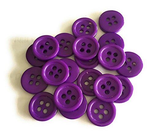20 Boutons en Plastique 11mm en Acrylique DIY (Violet)